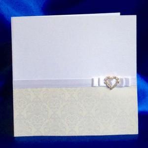 1b. Baroque Cr) Diamante Heart -  OS;