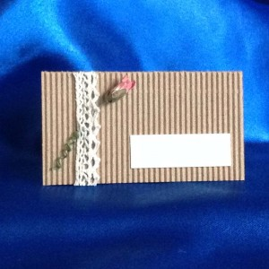 3e. Rustic Charm - Place-card